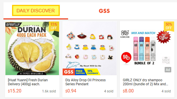 shopee daily discover