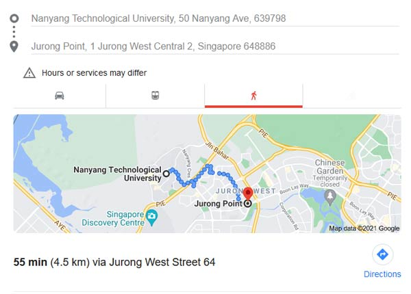NTU to Jurong Point trolley rescue