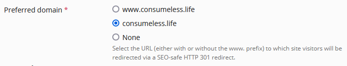 Plesk hosting settings preferred domain