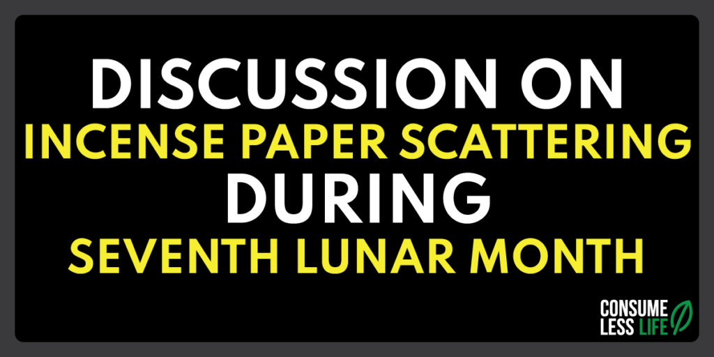 discussion on incense paper scattering during seventh lunar month